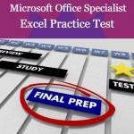 MOS Excel Practice Test