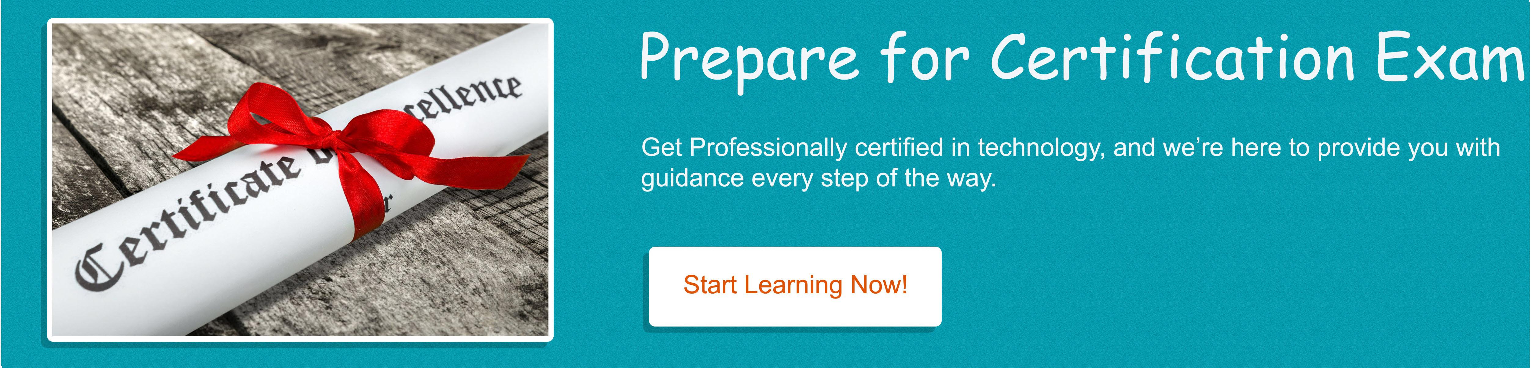 Prepare for Certification Exam
