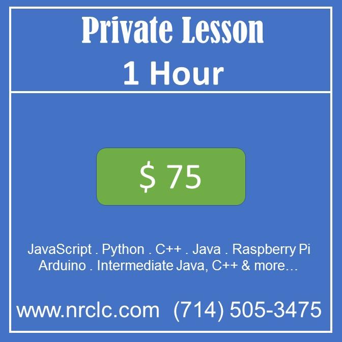 Private lesson 1 hr