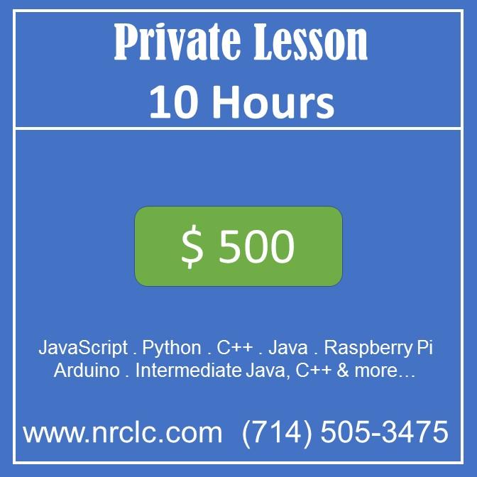 Private lesson 10 hours