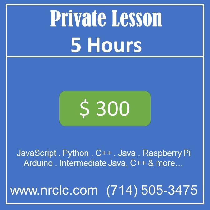 Private lesson 5 hr